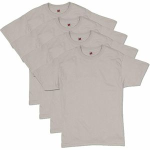 Hanes Men's Comfortsoft T-Shirt (Pack Of 4), Sand,